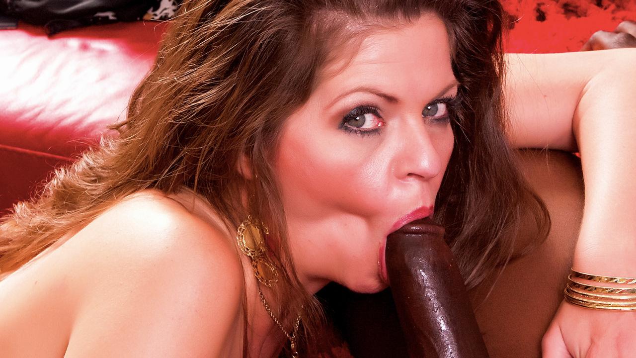 Hot cougar slut gets some big black cock