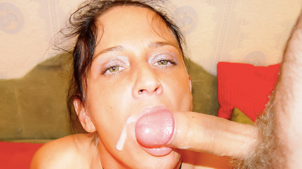 Naturally busty brunette MILF slut wants his cum
